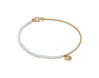 Bracelet « Pampille » Amazonite, gold-filled