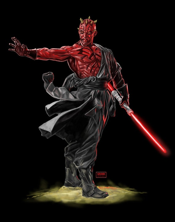 Darth Maul - artist's print