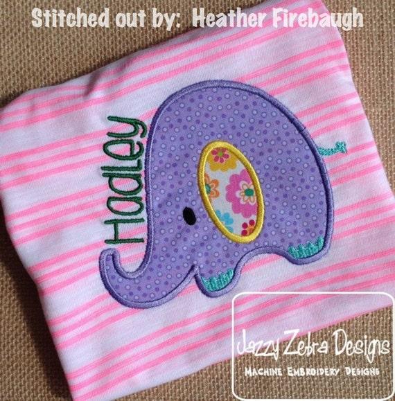 Elephant 38 Applique embroidery Design - baby Appliqué Design - zoo Applique Design - safari Applique Design - elephant Applique Design