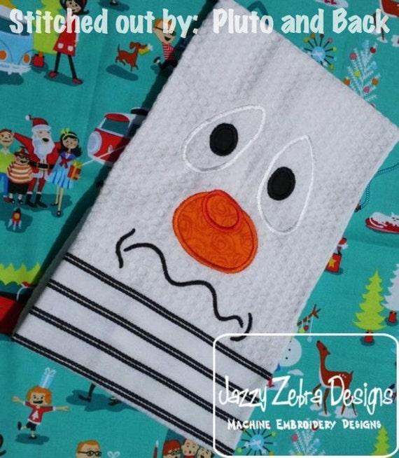 Snowman Face 1 Appliqué embroidery Design - snowman Applique Design - Winter Applique Design - snow man Appliqué Design - snow man face