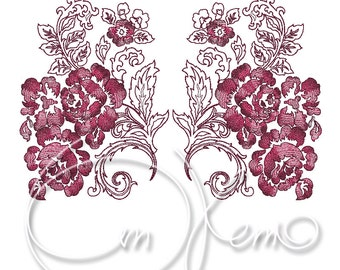 MACHINE EMBROIDERY FILE - Dress design - flowers