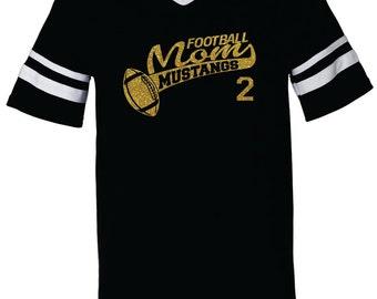 FOOTBALL MOM SHIRT. Team Name. Mascot Name. With Number. V-Neck Jersey Shirt. Football Team Shirt. Football Shirt. Football Mom. Sports Team