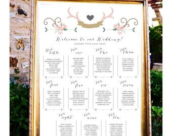 chalkboard wedding table assignments board wedding seating
