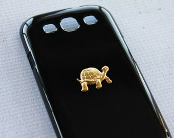 Animal Galaxy S3 Case Samsung S3 Case with Vintage Turtle Pendant Gold Galaxy SIII Phone Cover Rubber Case Silicone Cover for Samsung S3