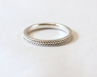 Wheat Ring in Sterling Silver
