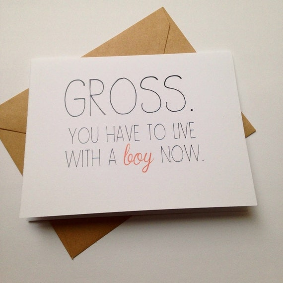 Funny Engagement Card / Humor Wedding Card / Moving In Card
