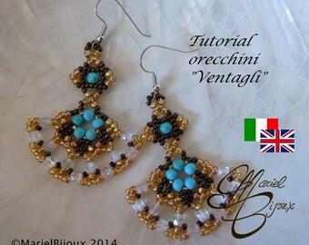 """Pattern - Earrings """"Ventagli"""""""