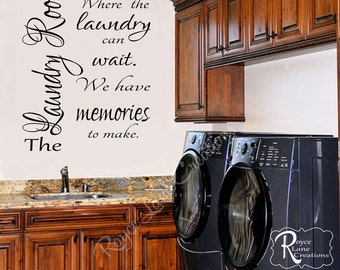 Laundry Room Decal Laundry Decal 2 Vinyl Laundry Wall Decal- Laundry Room Decor- Laundry Room Art- Laundry Decals