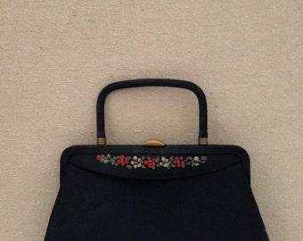 Gorgeous Vintage Black Evening Bag