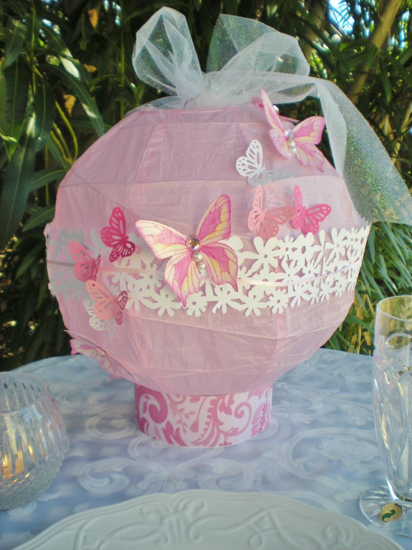 Lantern centerpiece lights up pink diameter custom