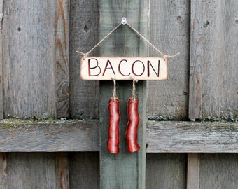 Popular items for bacon ornament on Etsy