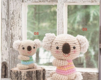 Amigurumi Soft Toys Japanese eBook (AMI25), Crochet Soft Toys Pattern,Amigurumi Koala,Amigurumi Monkey,Amigurumi Plushie Pattern