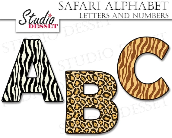alphabet cliparts safari letters and numbers abc clipart