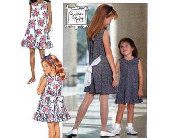 Butterick 6091 Girls/Childrens Dress  Sizes 4-5-6  Used