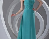 Low V-Neck Open Back Long Evening Dresses/ Halter Tied Back Wedding Party Dress/ Sexy Ruffle Trim Gown Cocktail Party One-piece Dress CLF007