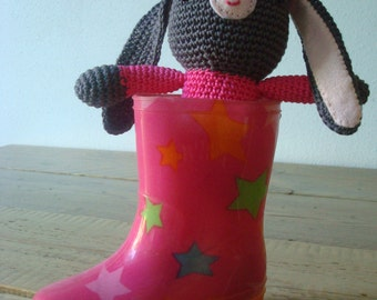 Little Rabbit Ready for Adventure - crochet toy