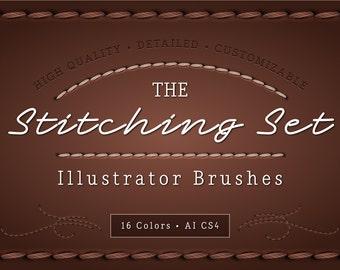The Stitching Set - Adobe Illustrator Stitching Brushes