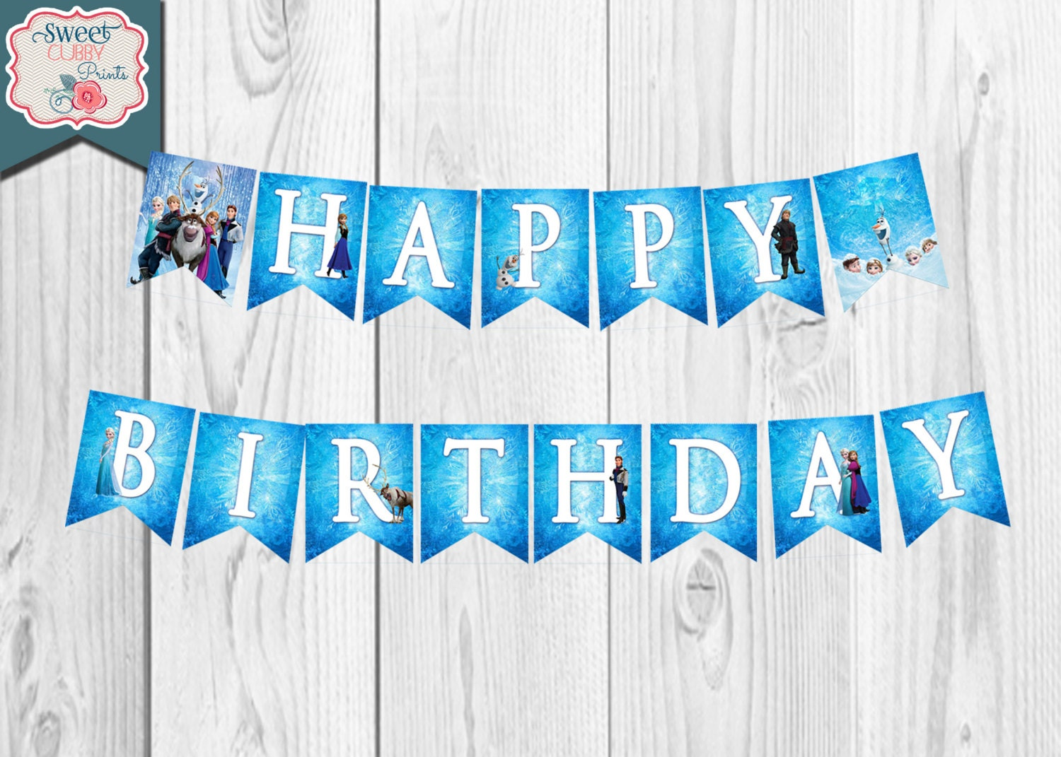 items similar to frozen happy birthday banner instant