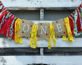 Planes Trains and Automibles Themed Birthday Rag Garland, Birthday Banner, Fabric Banner, Highchair Birthday Decoration, Birthday Photo Prop