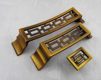 3.75'' 5'' Dresser Pull Drawer Knobs Pulls Handles Antique Brass Kitchen Cabinet Knob Pull Handle Door Handles Knob Symmetry Pulls 96 128mm