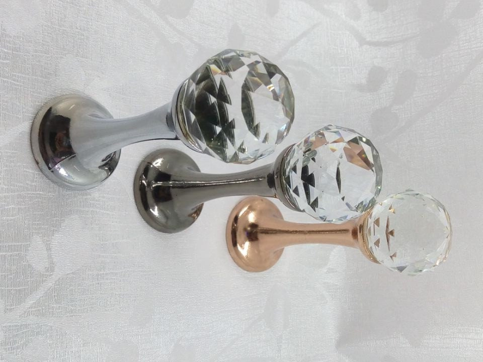 glass hook decorative hooks wall hooks clear gold metal crystal - Decorative Picture Hangers