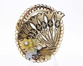 14K Gold Mourning Brooch 1890s