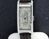 Glycine Platinum Wrist Watch with Diamond Dial