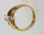 18k yellow gold engagement ring 1.00 carat free shipping m106713.