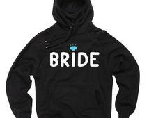 Bride Sweatshirt Bride Diamond Hooded Sweatshirt Gift For Bride Bachelorette Party Wedding Sweater
