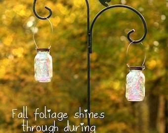 Christmas Gift - Solar Mason Jar - Fairy Lantern - Mason Jar - Garden Decor - Fairy Realm - Mason Jar Solar Light - Outdoor Lighting