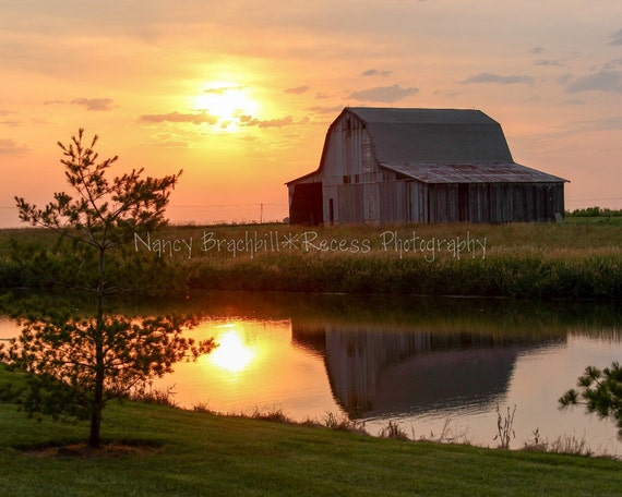 Items Similar To Rrl 010 Quot Shelby County Barn At Sunset Quot A