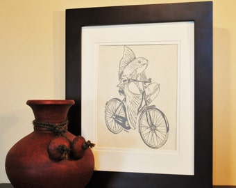 Kitchen Wall Decor - Kitchen Art Print - Dining Room Art - Fish Art Print  - Art for Bathroom - Nautical Wedding Gift - Nautical Nursery