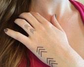 4 Geometric Chevron Temporary Tattoos- SmashTat