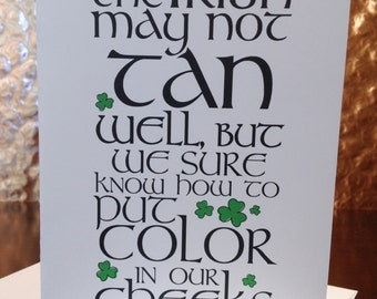 St Patrick's Day Card, St Paddy's Day Card, St Patty's Day Card