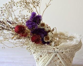 Wedding centerpieces Macrame wedding Boho wedding table  Hippie wedding Boho macrame Woven macrame basket Romantic gift Housewarming gift