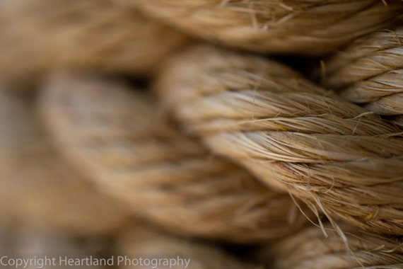 Large Macro Print, Nautical Rope, Rope Macro Photo, Neutral Colors, Beach Photography, Tropical Photography, Nautical Decor, Beach Images