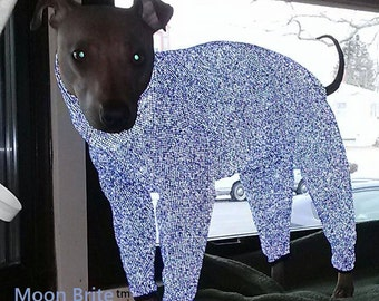 MoonBrite Reflective Safety Clothing for Italian greyhounds and small dogs-CUSTOM MADE