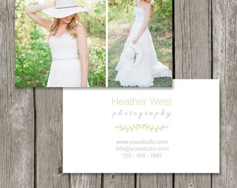 Photography Business Card Template - Simple Photo Business Card Design (Printable) - BC07