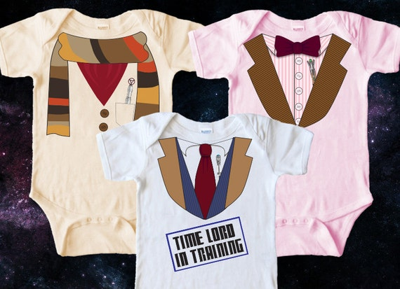 Doctor Pooh is Winnie the Pooh pretending to be Doctor Who. The Doctor Who onesie for babies is a parody mashup and is perfect for all 'lil Whovians out there. This could be the cutest Dr Who onesie ever!