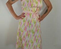 80s Dress//Strapless Dress//silhouette Dress//Pink Dress//Summer Dress