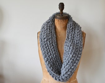 Chunky Infinity Scarf / Cowl in Stone