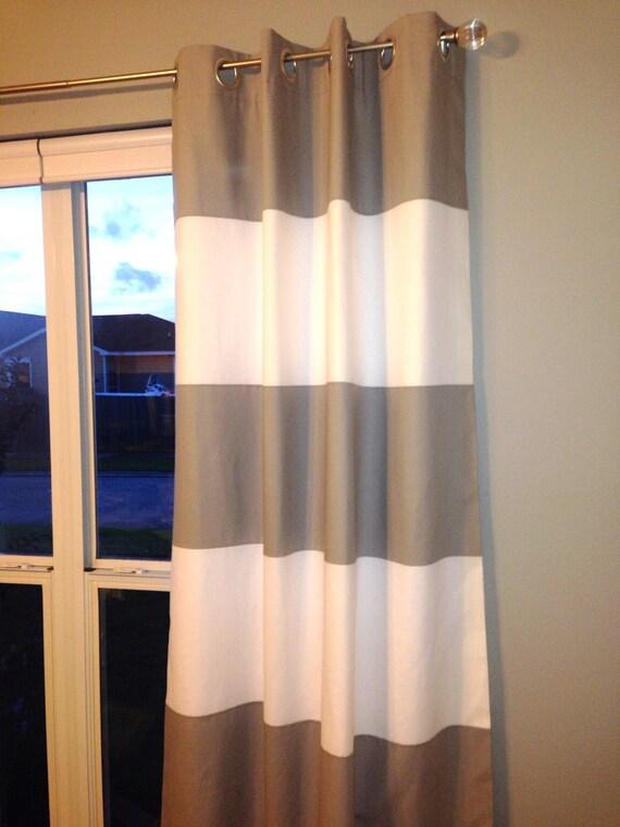 Custom Horizontal Wide Striped Curtain Panels By Sharonneumann