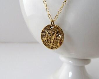 22 Karat Gold Disk Layering Necklace
