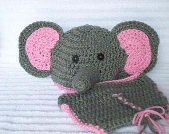 Elephant Diaper Cover Set, Baby Diaper Cover Set, Newborn Halloween costume, baby girl, Elephant Halloween Costume, Newborn Photography Prop