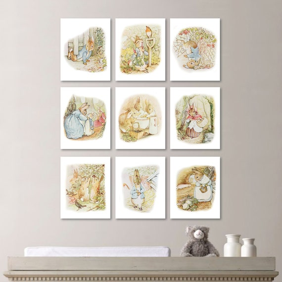 Peter rabbit nursery decor peter rabbit decor peter rabbit for Rabbit decorations home