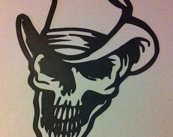 Cowboy Skull Metal Wall Art Metal Skull Cowboy Wall Decor