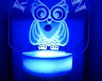Personalized Owl Night Light