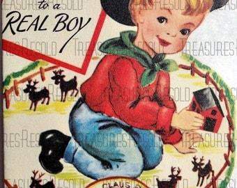 Merry Christmas Cowboy Card #141 Digital Download