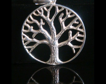 Tree of Life Necklace with a 925 Silver Tree of Life Pendant Intricately Detailed - Lovely Tree of Life Necklace, Tree of Life Jewelry 009