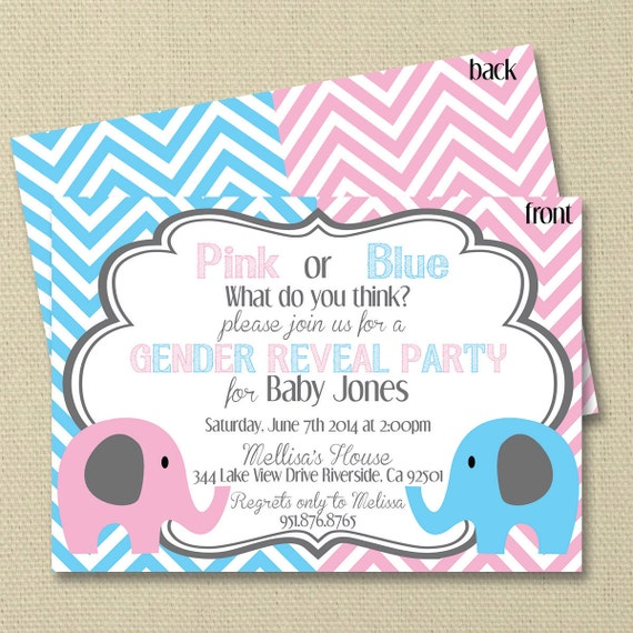 Gianna S Pink And Gray Elephant Nursery Reveal: Items Similar To Elephant Gender Reveal Baby Shower